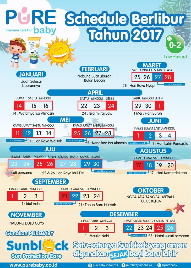 Schedule Berlibur 2017